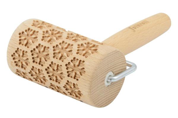 FOLKROLL Teigrolle Schneeflocken, mini