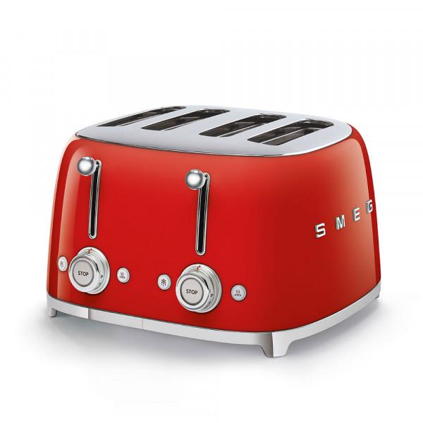 SMEG 4-Schlitz-Toaster Rot