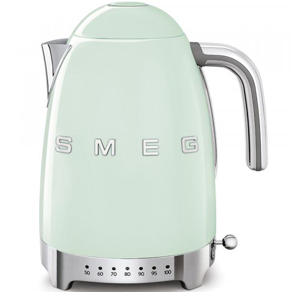 SMEG Wasserkocher mit Temperatureinstellung, Pastellblau