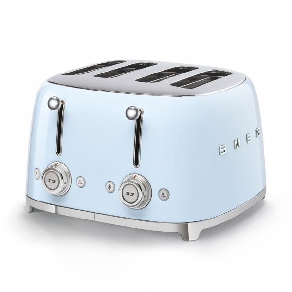 SMEG 4-Schlitz-Toaster Pastellblau