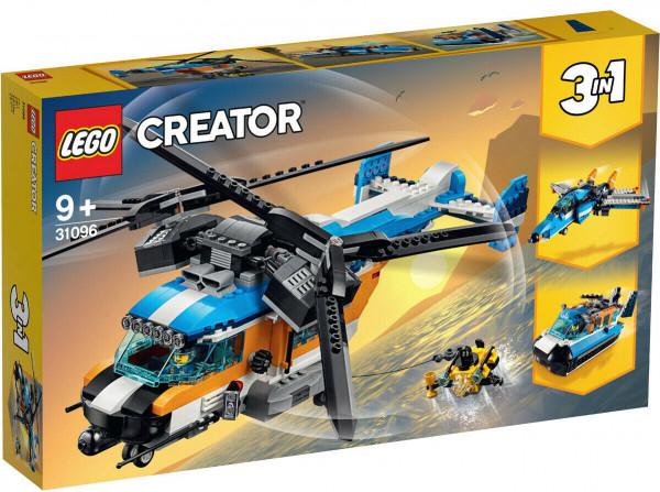 LEGO Creator 31096 3-in-1 Set: Doppelrotor-Hubschrauber, Jet oder Luftkissenboot