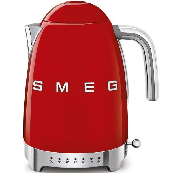 SMEG Wasserkocher mit Temperatureinstellung, Rot