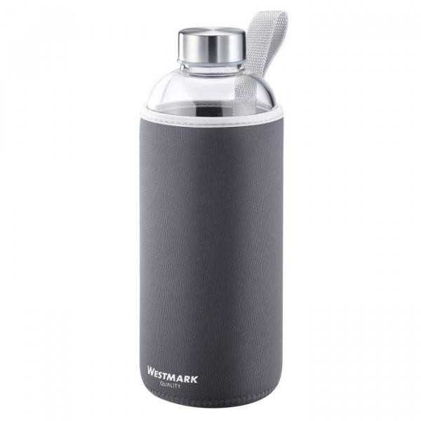 WESTMARK Trinkflasche Glas anthrazit