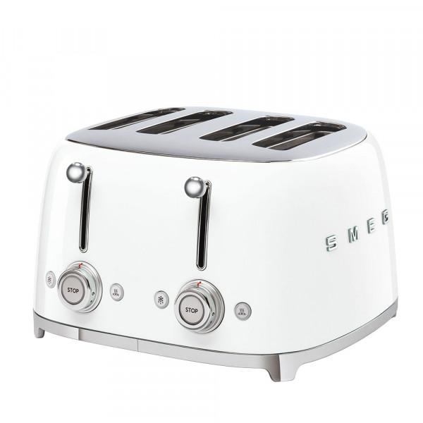 SMEG 4-Schlitz-Toaster Weiß