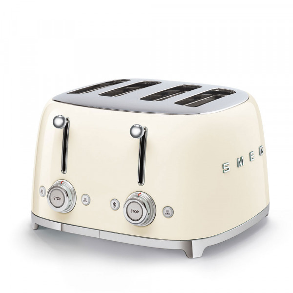 SMEG 4-Schlitz-Toaster, Creme