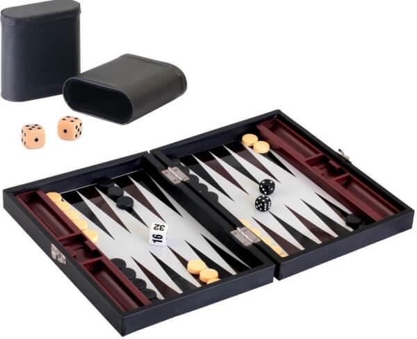 VEDES Magnet-Backgammon im Koffer