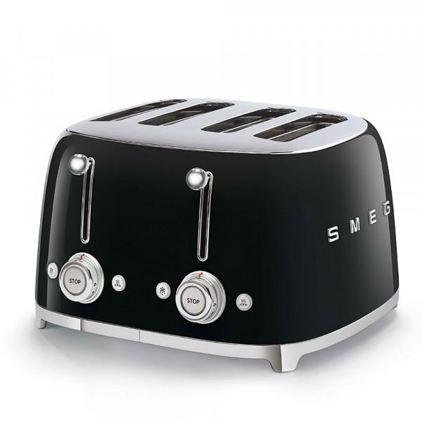 SMEG 4-Schlitz-Toaster Schwarz