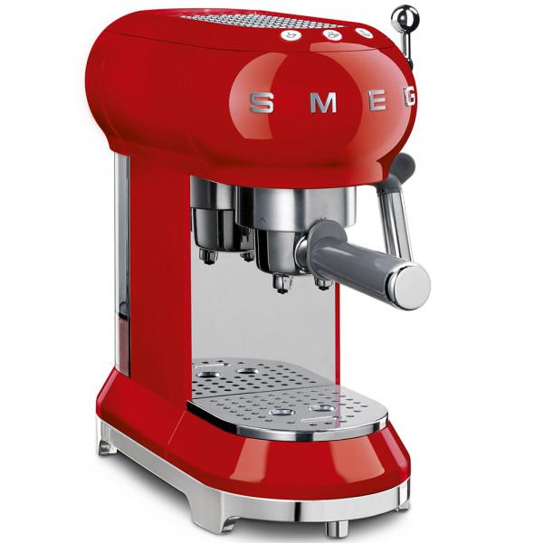 SMEG Espressomaschine Rot-3