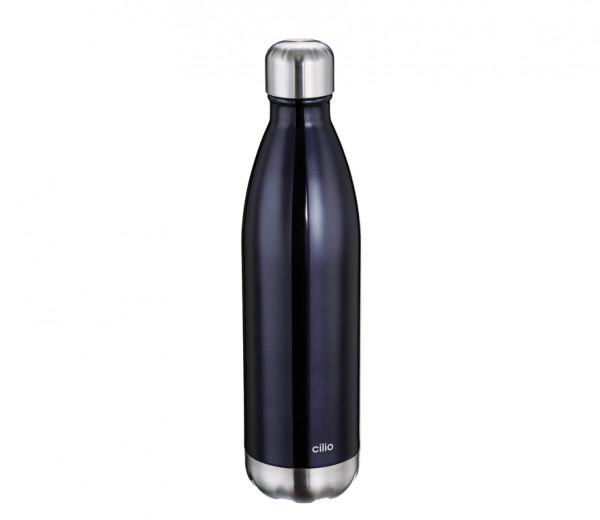 CILIO Isolierflasche ELEGANTE schwarz 0,75 l