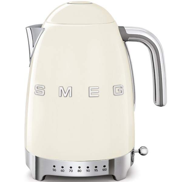 SMEG Wasserkocher mit Temperatureinstellung, Creme