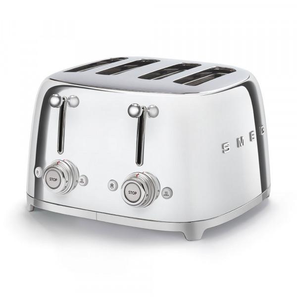 SMEG 4-Schlitz-Toaster Chrom