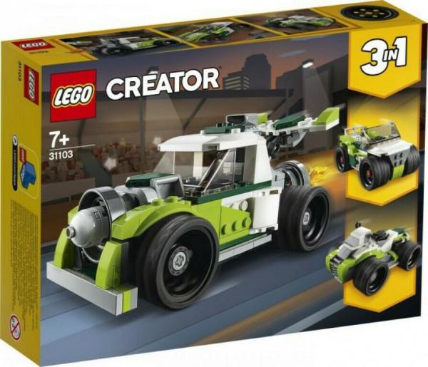 LEGO Creator 31103 Creator 3-in-1 Raketen-Truck - Geländewagen - Quad Bauset