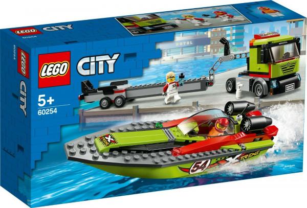 LEGO City 60254 Rennboot-Transporter City