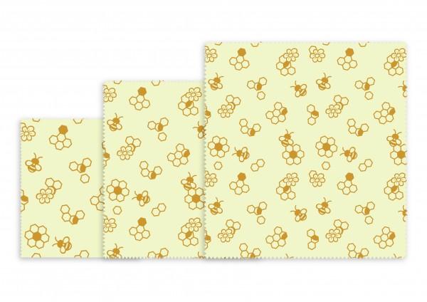 NUTS Bienenwachstücher 3er-Allzweck-Set